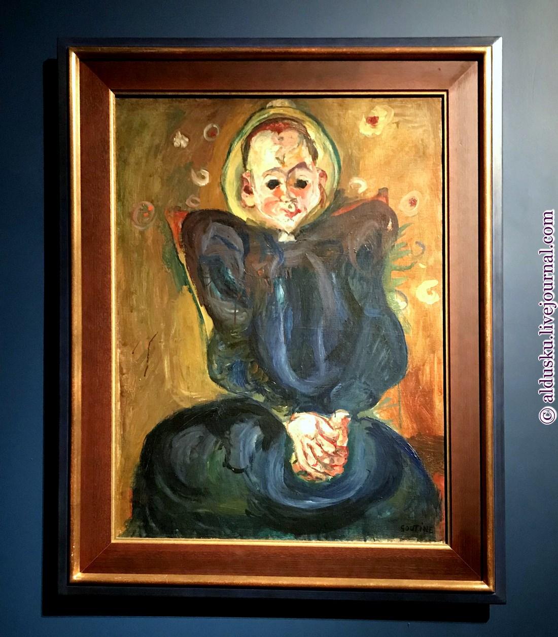 5. Женщина в синем платье. Около 1924. Музей современного искусства города Парижа