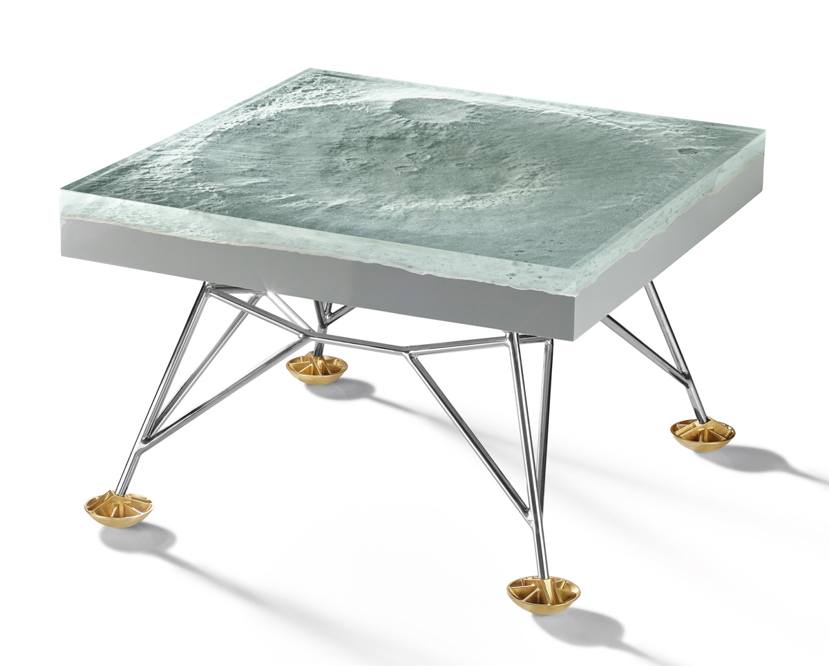 This Resin and Fiberglass Table by Harow Replicates the Surface of the Moon