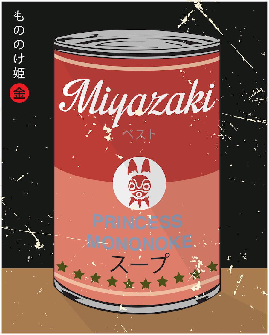 Miyazaki and Warhol Inspired Soup Series