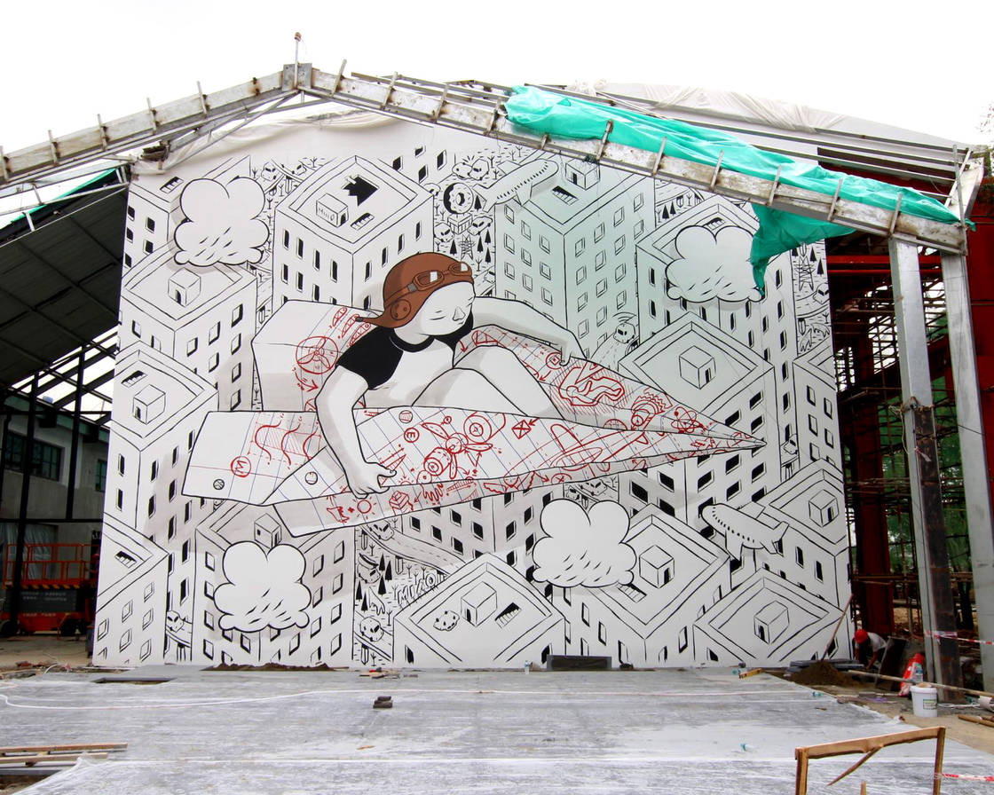 Power of imagination – The latest street art creations from Millo