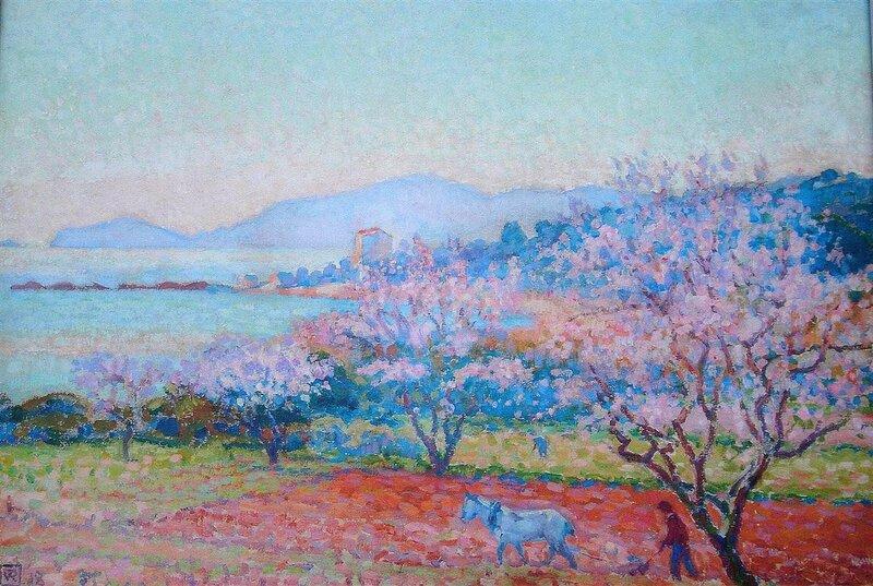 the-almond-flowers-1918.Theo van Rysselberghe.