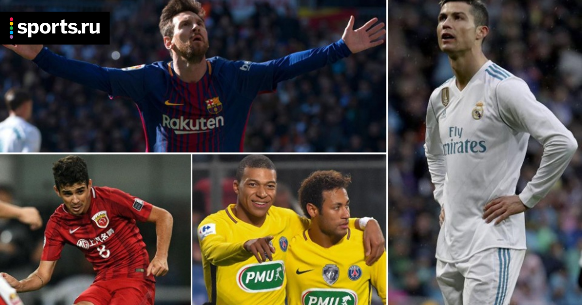10 самых высокооплачиваемых футболистов: Роналду, Месси и другие