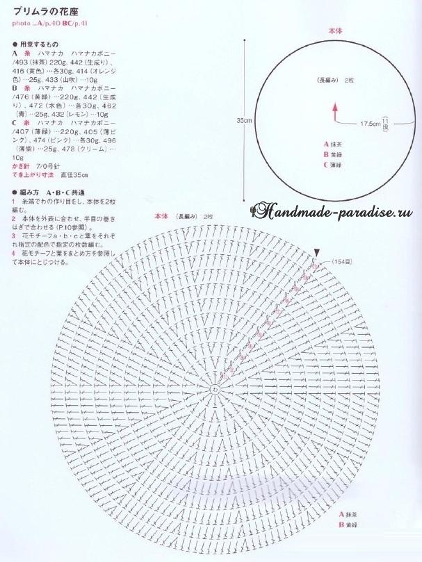 Схемы вязания крючком сидушек и ковриков (8)