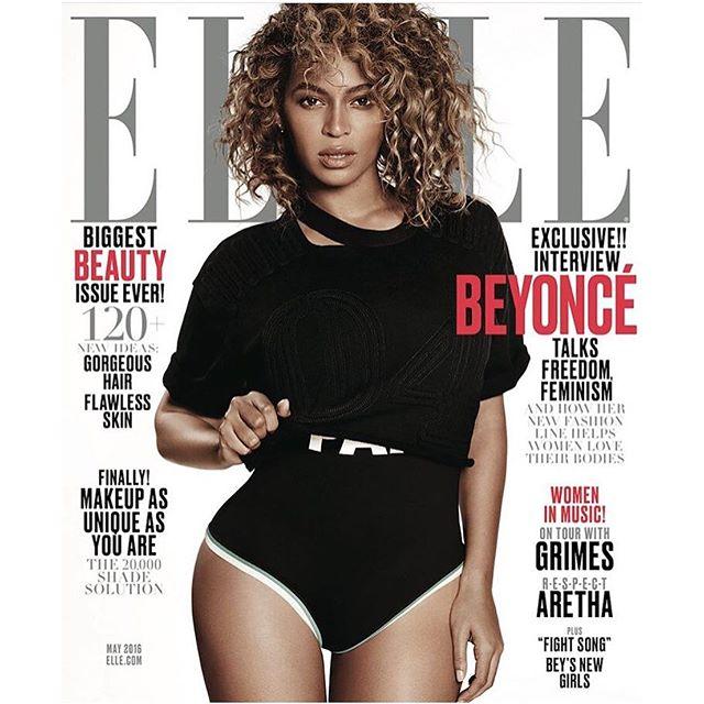 Бейонсе снялась для обложки Elle