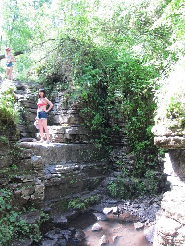 Подъём наСухие водопады