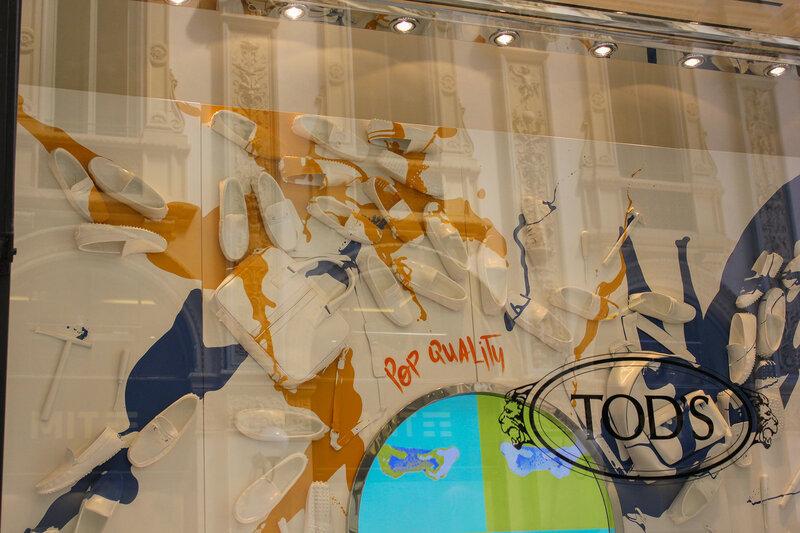 Витрина в галерее Vittorio Emanuele II