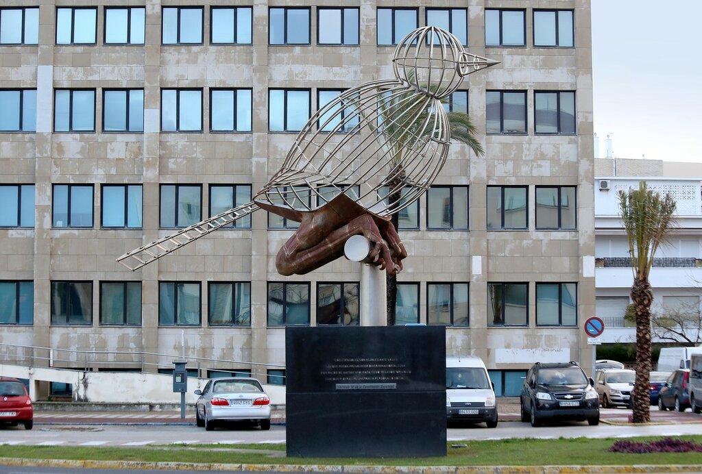 Кадис. Jaulájaro - памятник Конституции 1978 года