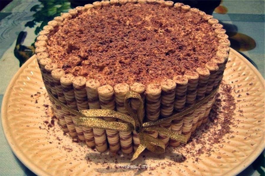 Холодный шоколадный торт