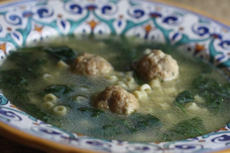 Итальянский суп салат из говядины