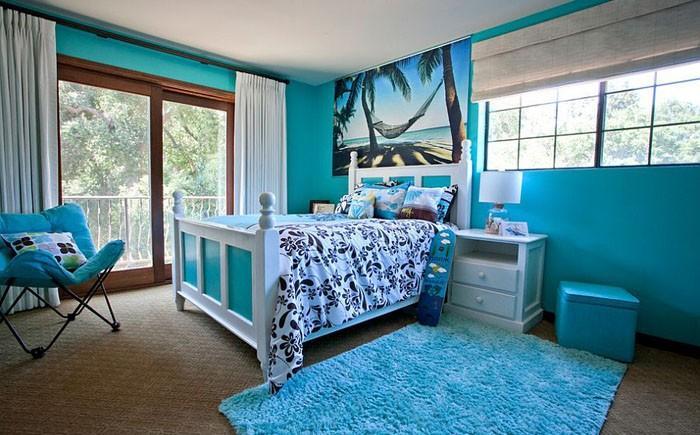 15. Детская спальня в синих тонах от Genoveve Serge Interior Design