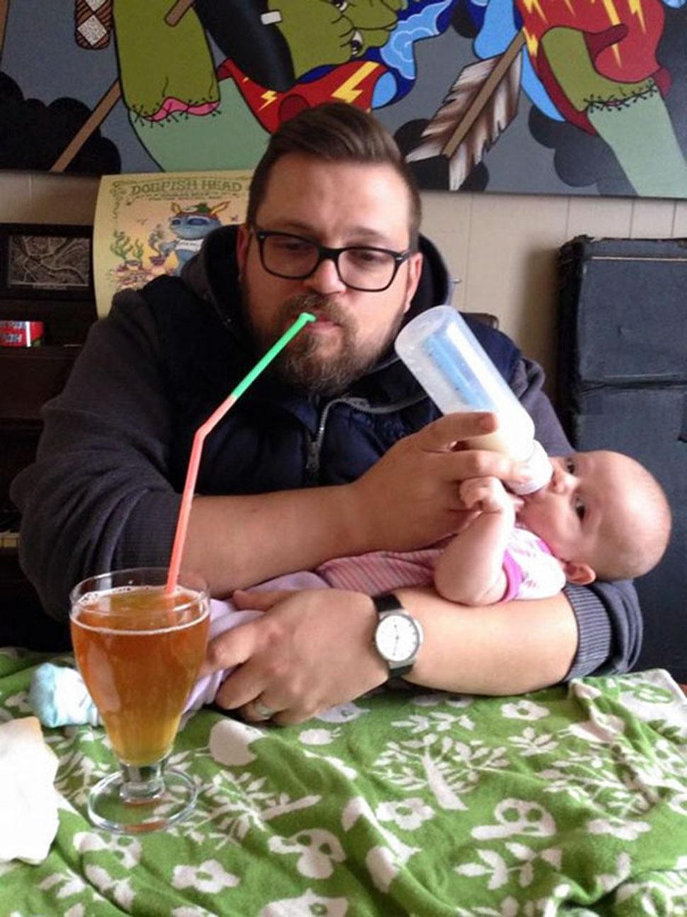 Ребенка напоил — выпей сам.