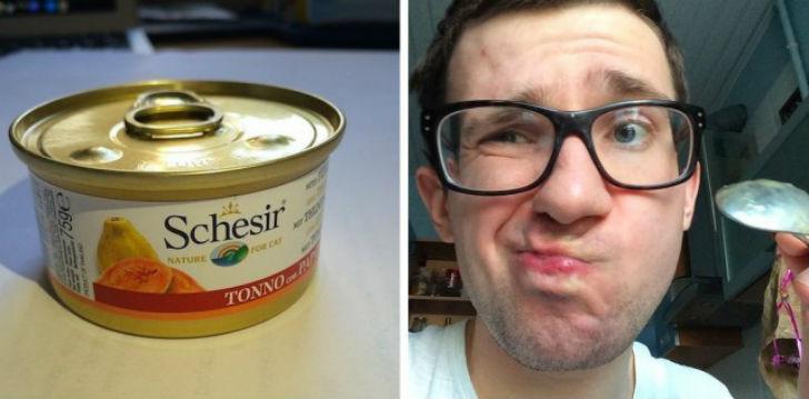 Schesir тунец и папайя Первое впечатление — на вкус похоже на куриный бульон, хотя на упаковке обеща