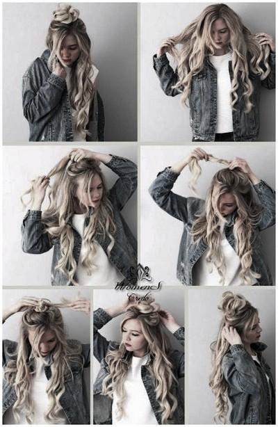 Фотоуроки причесок на распущенные волосы