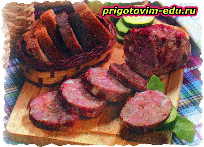 Домашняя колбаска из свинины и говядины