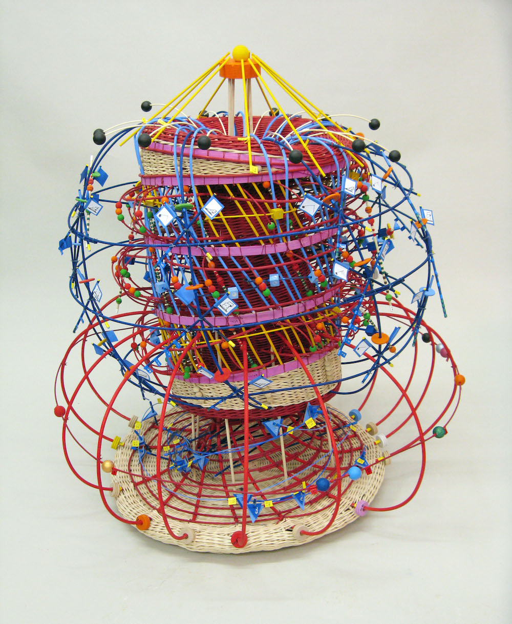 Colorful Basket Weaving Sculptures by Nathalie Miebach Transform Weather Data into Visual Art