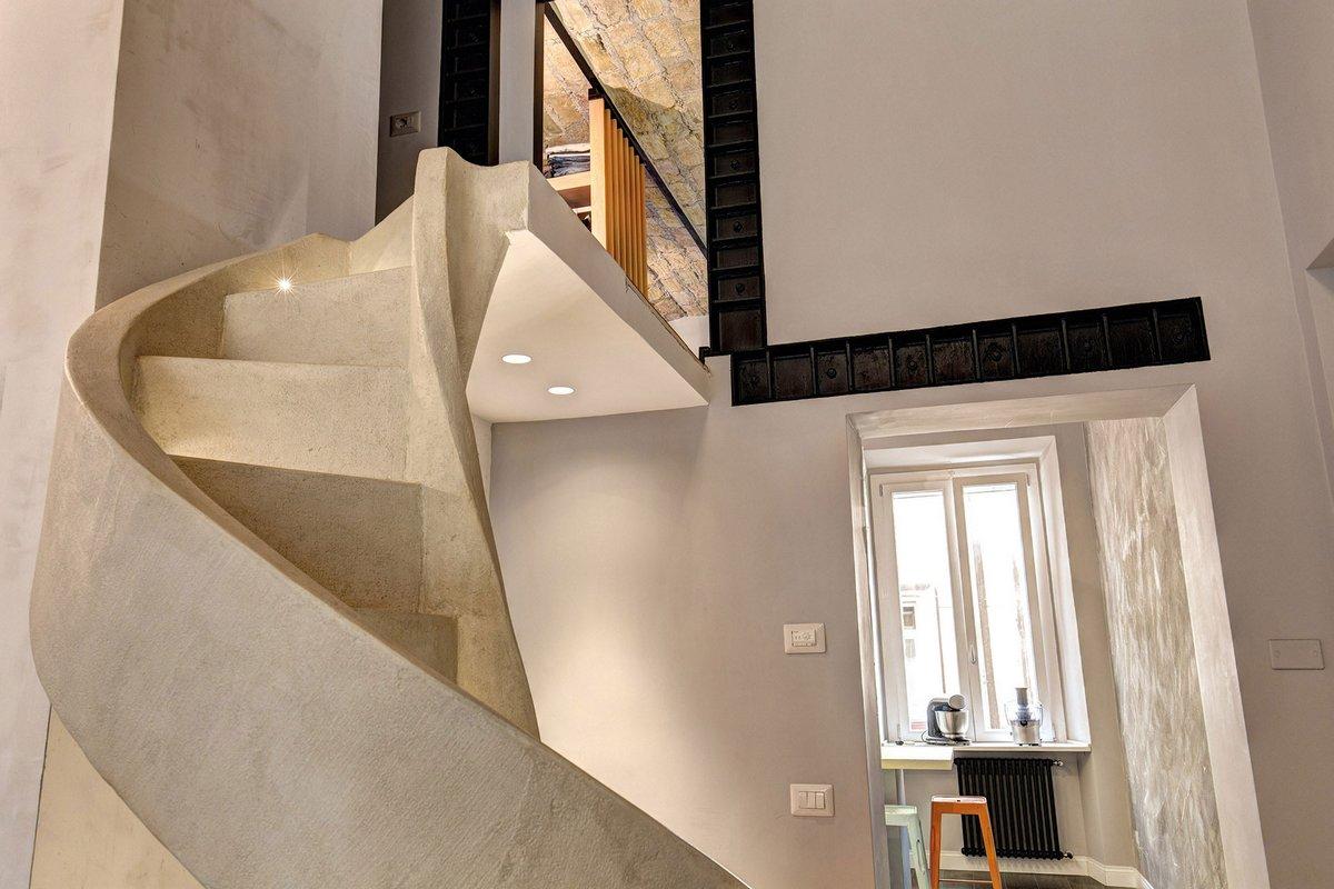 MOB ARCHITECTS, Рим, Италия, реставрация старого дома в Италии, реставрация старой квартиры фото, Residenza Privata, сводчатый потолок в интерьере