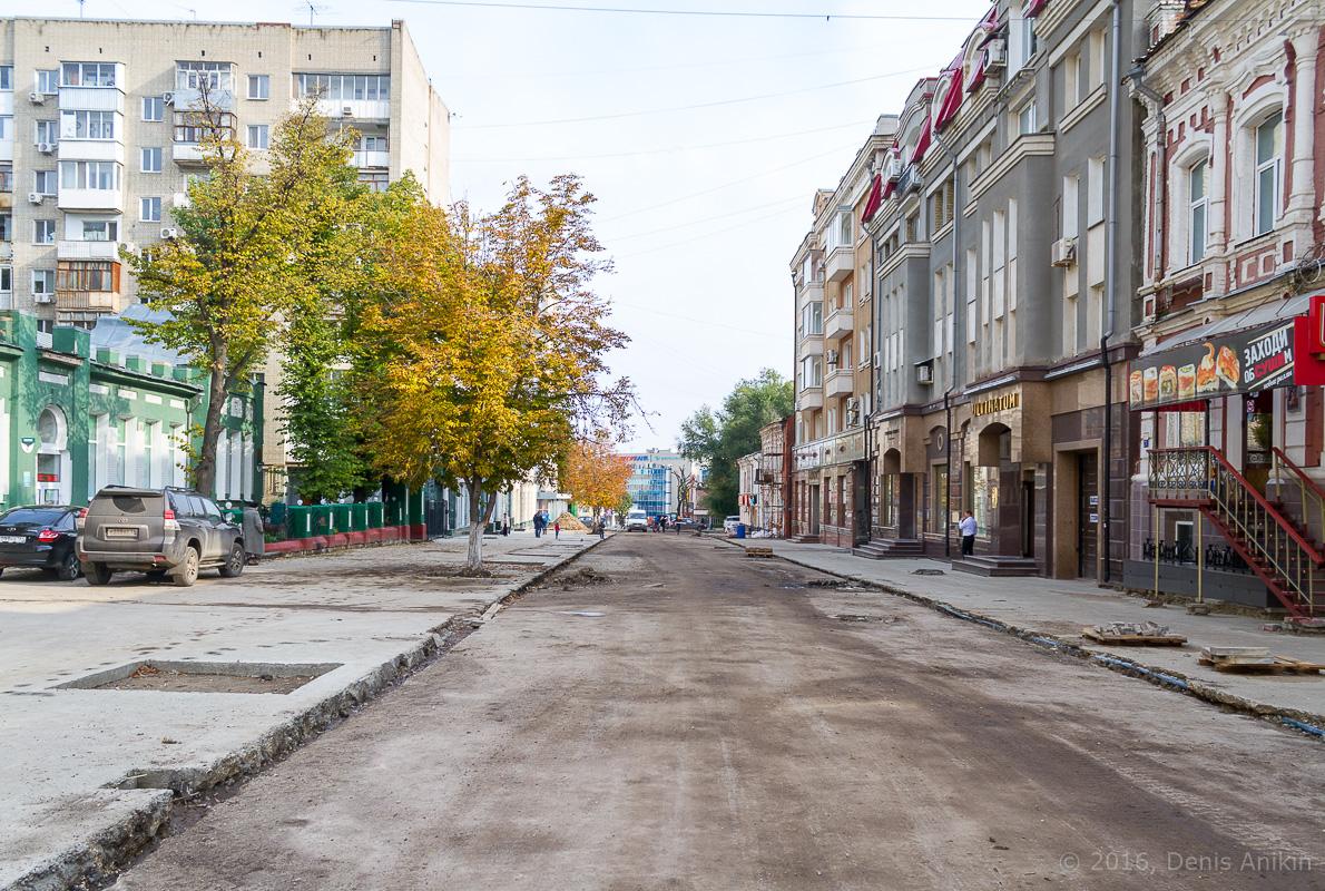 Строительство пешеходной зоны Саратов фото 18
