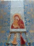 Благодарим руководительницу и участниц Златошвейного кружка за новый дар в ризницу Донского храма - образ Богородицы Донской