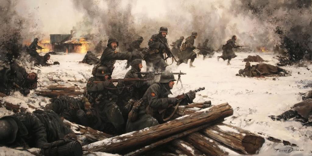 «Голубая дивизия» в битве при Красном Бору