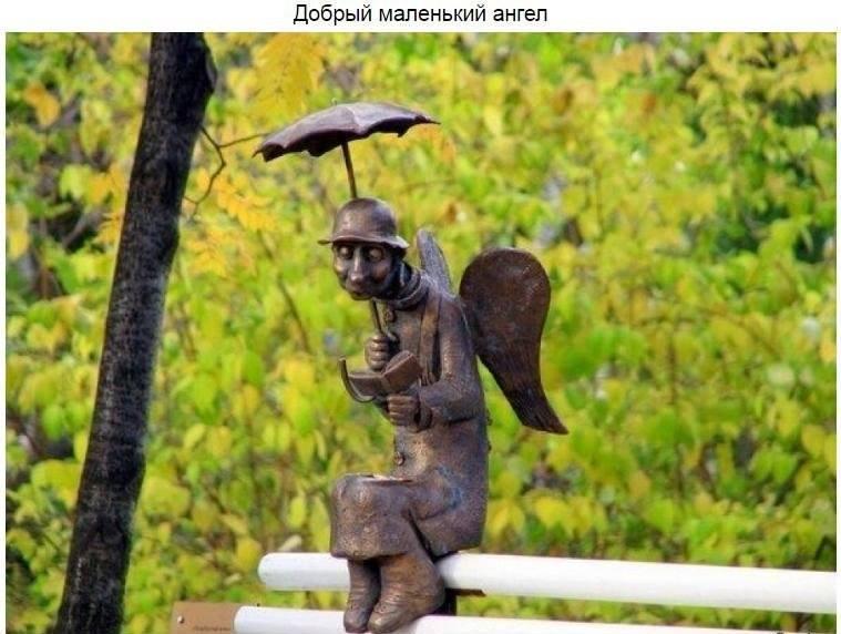 12 октября 2013 года в Измайловском саду появилась скульптура «Петербургский ангел». Фигурка доб
