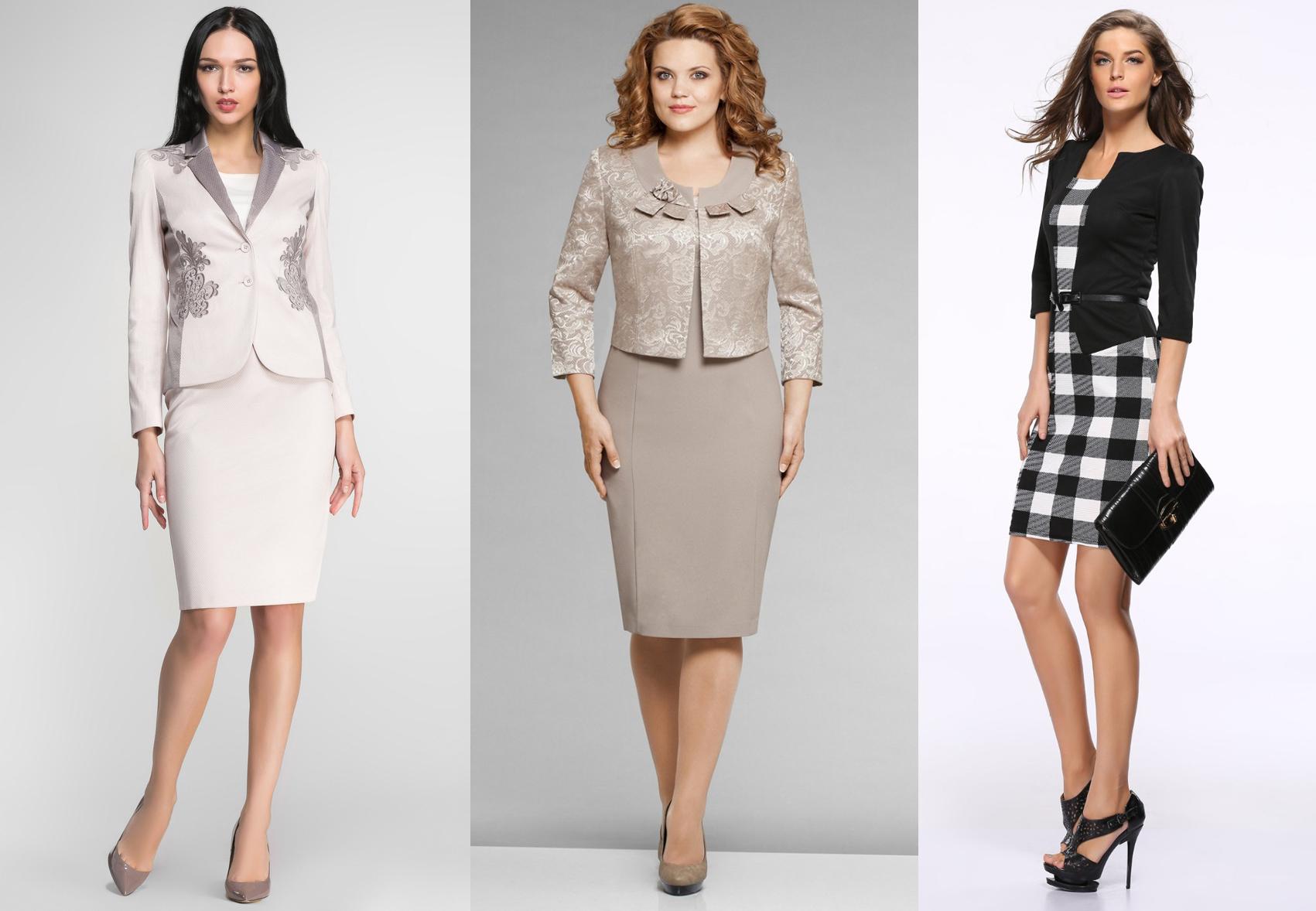 Платья-костюмы (8 фото)