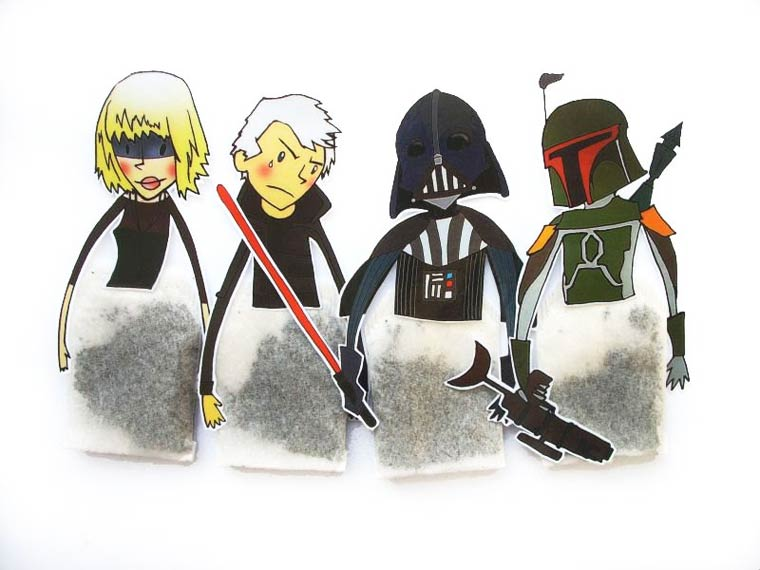 The adorable tea hangers inspired by the famous characters of Pop Culture