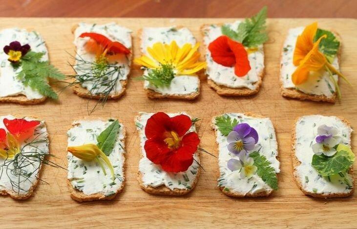 Новая мода высокой кухни - сьедобные цветы