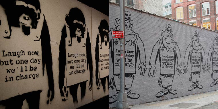 Banksy Cartoons - Revisiting the artworks of Banksy with cartoons