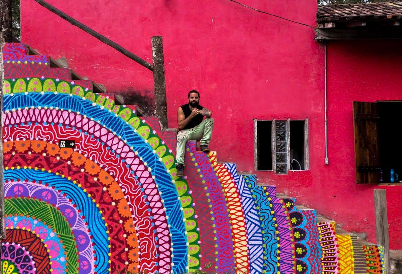 Artista brasileiro troca grafite por experiencias de viagem