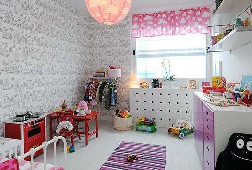 Обои-раскраски для детей в интерьере квартиры