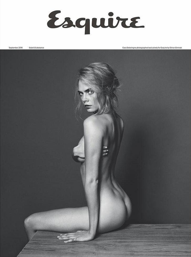 голая Кара Делевинь в журнале Esquire UK, сентябрь 2016 / Cara Delevingne by Simon Emmett