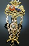 REAL ROYAL HERALDIC CHATELAINE WITH CLIP