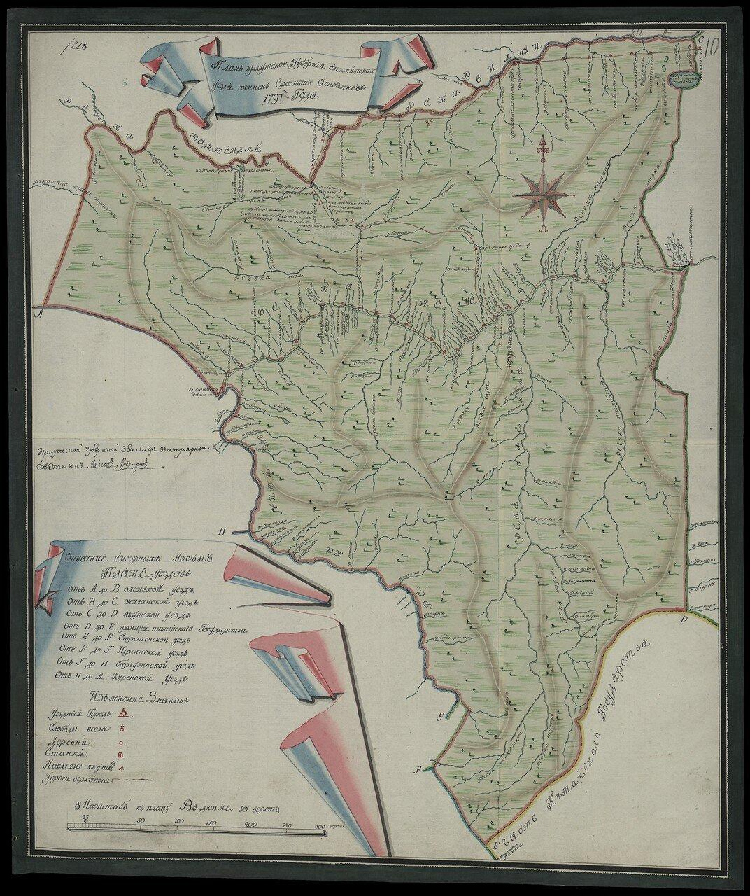Олёкминский уезд 1797. 50 верст