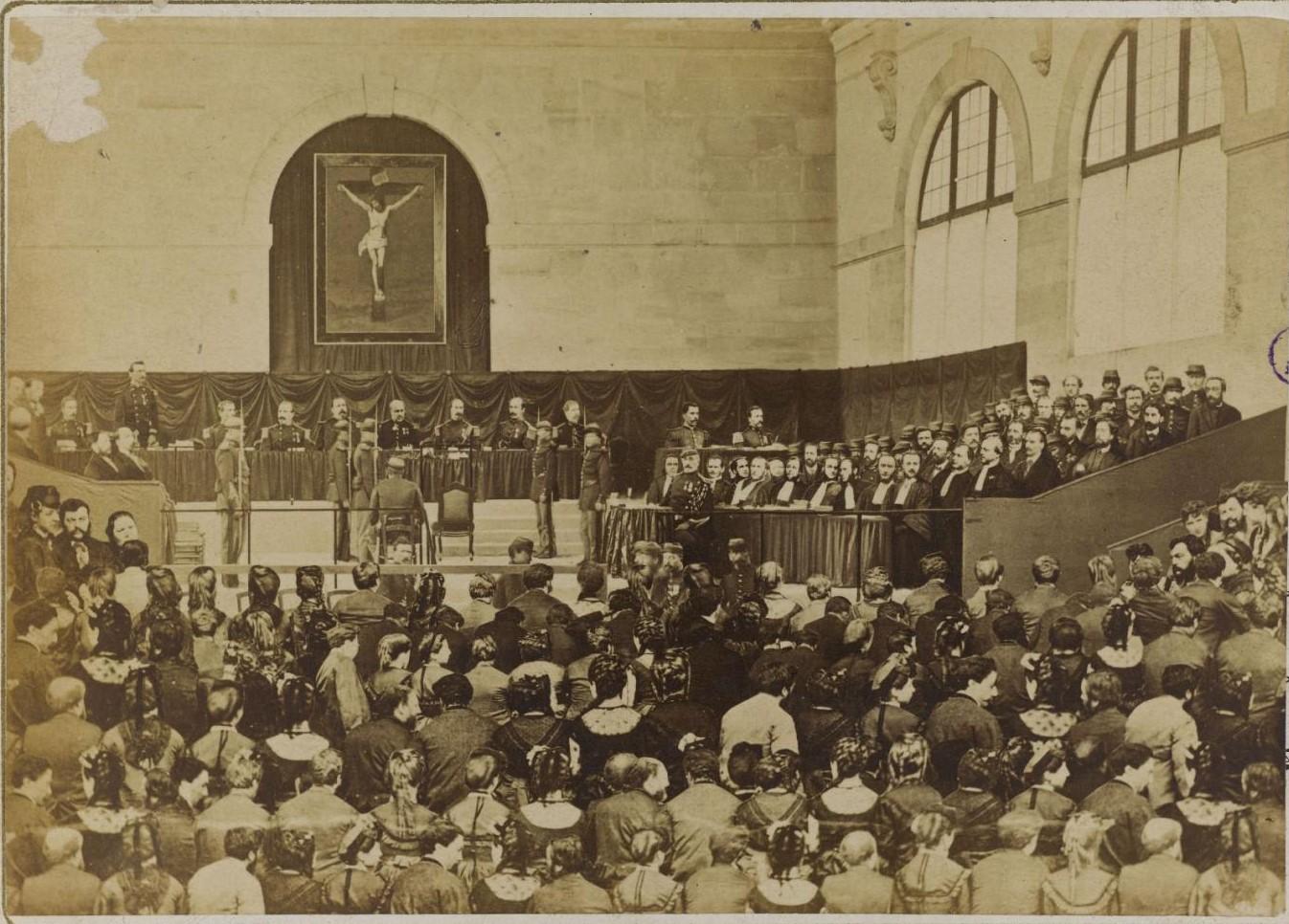 2 сентября 1871. Члены Коммуны перед Военным советом в Версале