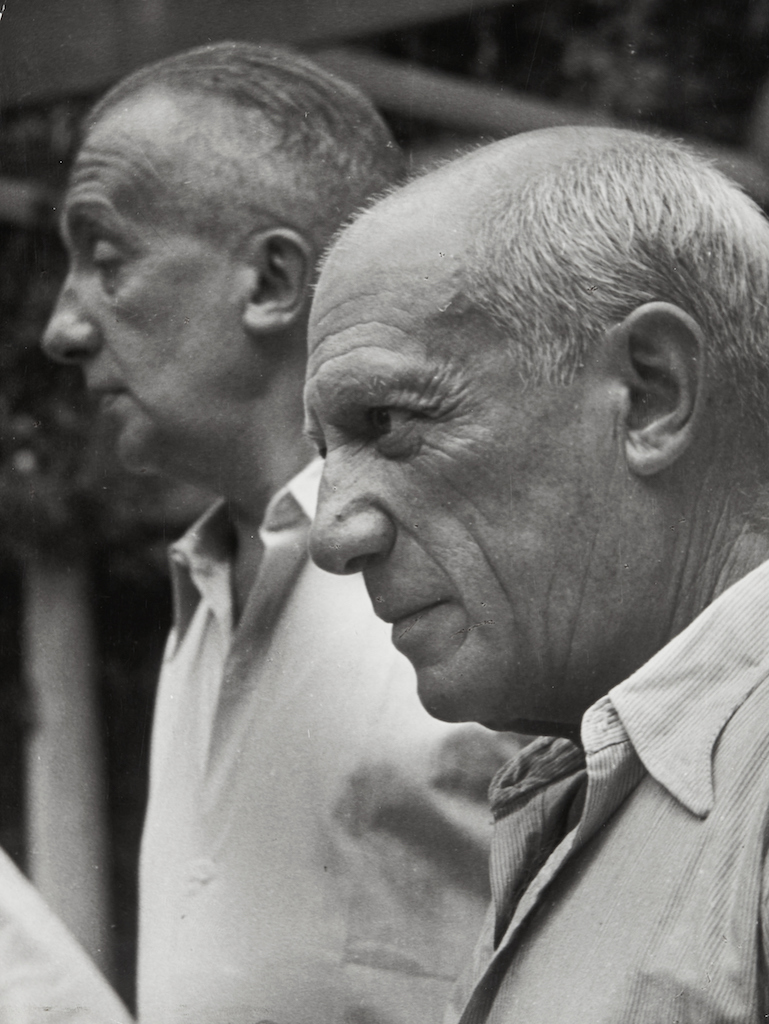 1950. Пабло Пикассо и Поль Элюар, Ницца