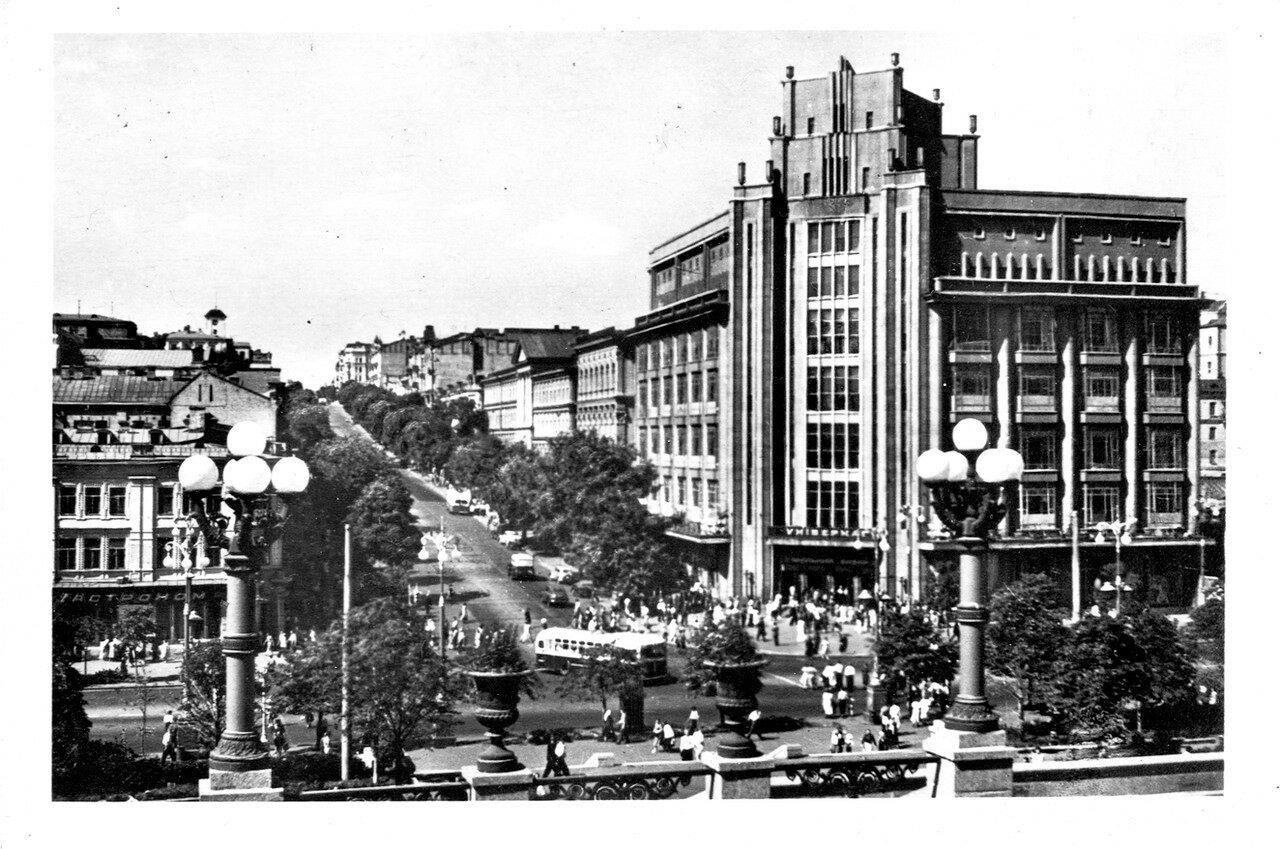 Cities of the USSR. Kiev. 1957 Lenin street.