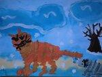 Маркина Алина (рук. Гончарова Татьяна Львовна) — Кошка с котенком. Зимняя прогулка.