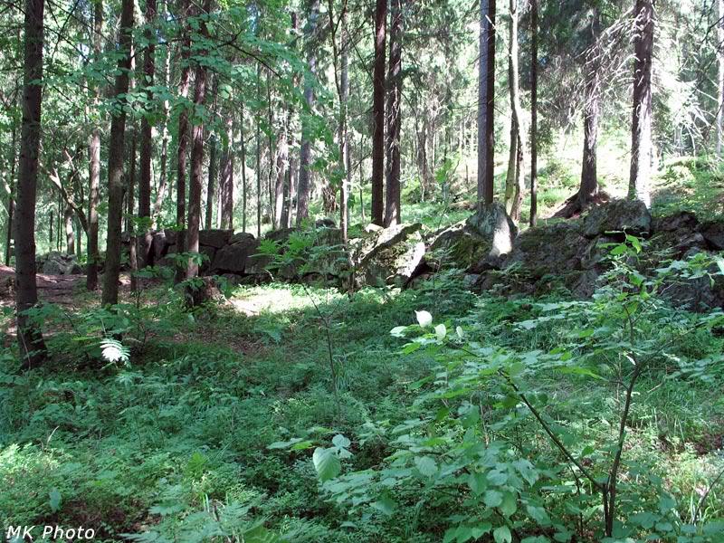 Каменная стенка - граница парка
