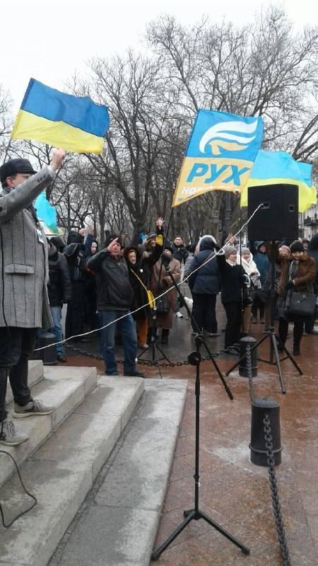Одесса вышла на Вече за отставку Порошенко