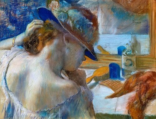 Французский живописец Эдгар Дега Edgar Degas Перед зеркалом