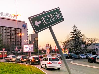 E-75 одна из главных магистралей Сербии, проходящая с севера до юга страны