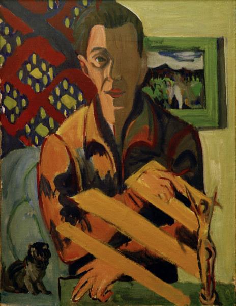 Ernst Ludwig Kirchner / Selbstbildnis -  -