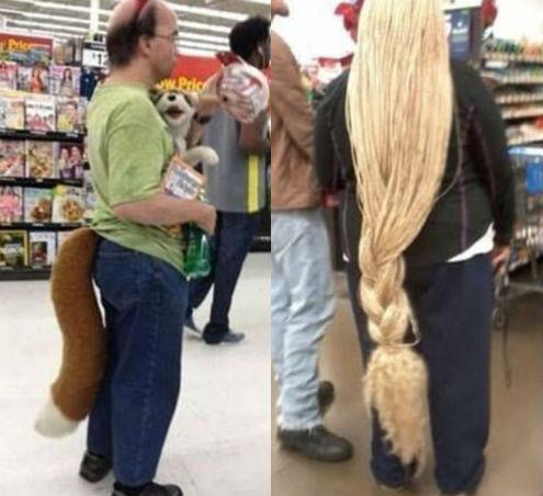 Кто-то отращивает волосы, а кто-то — хвост.