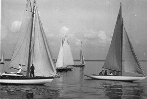Яхты 7А, 5А и 6M на дистанции гонок по Финскому заливу