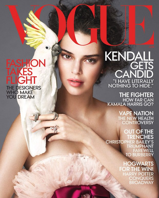 Kendall Jenner is the Cover Girl of American Vogue April 2018 Issue (10 pics)