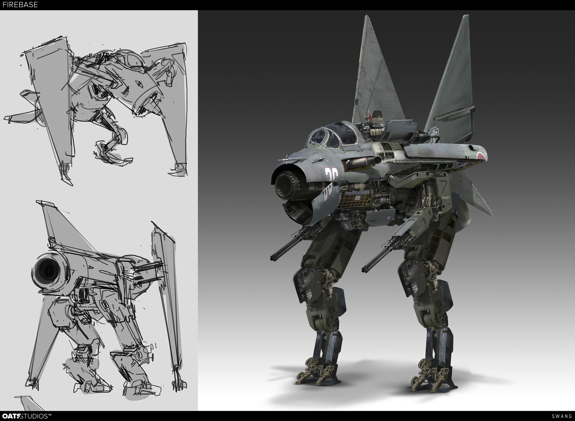 Firebase Concept Art by Steve Wang