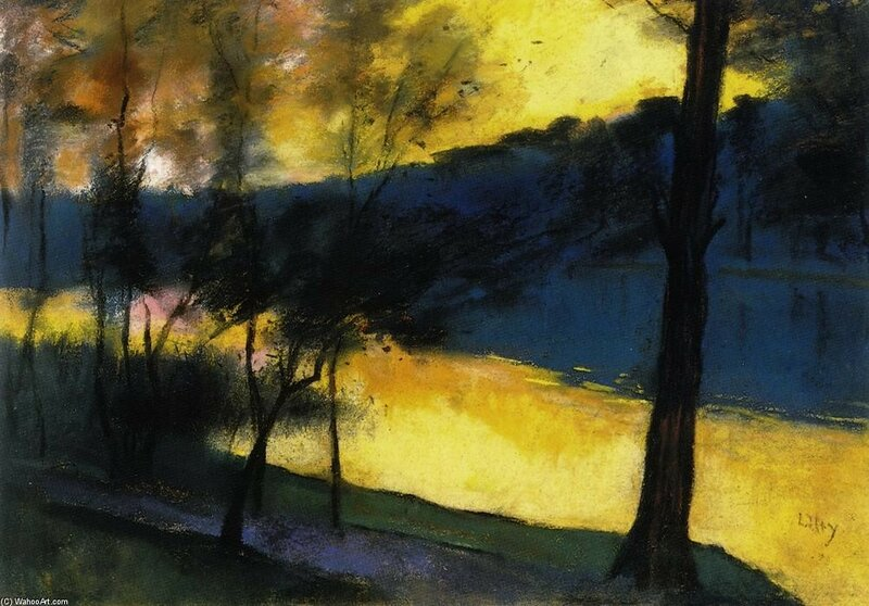 Lesser Ury- Landscape at Sunset