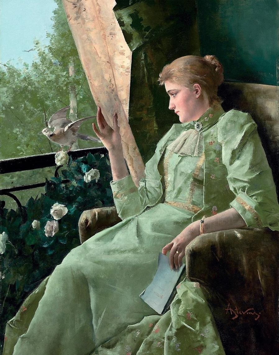 Symphonie en vert' Alfred Stevens