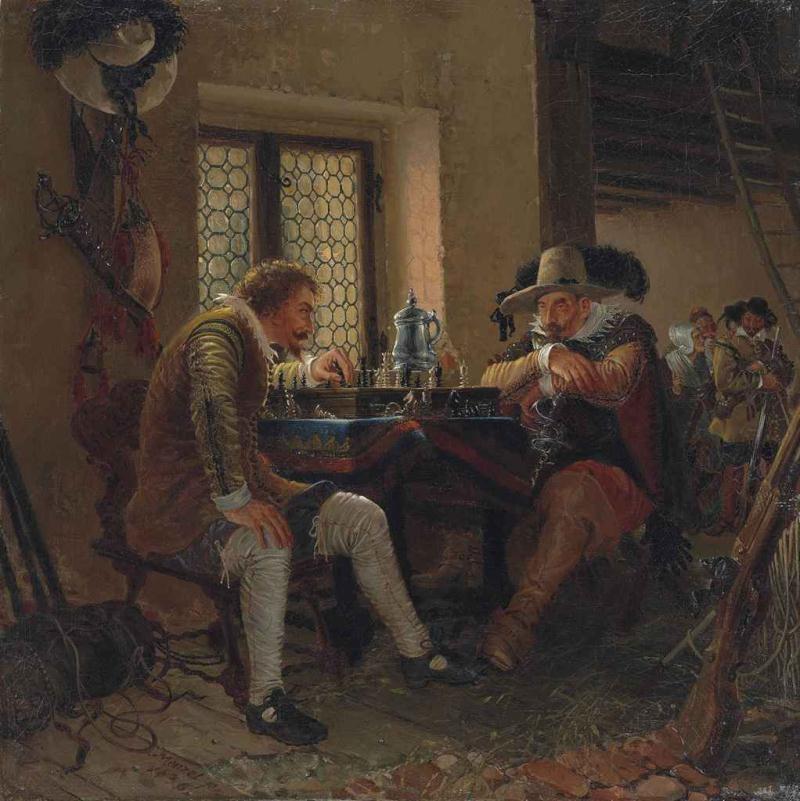 Die Schachpartie , 1836