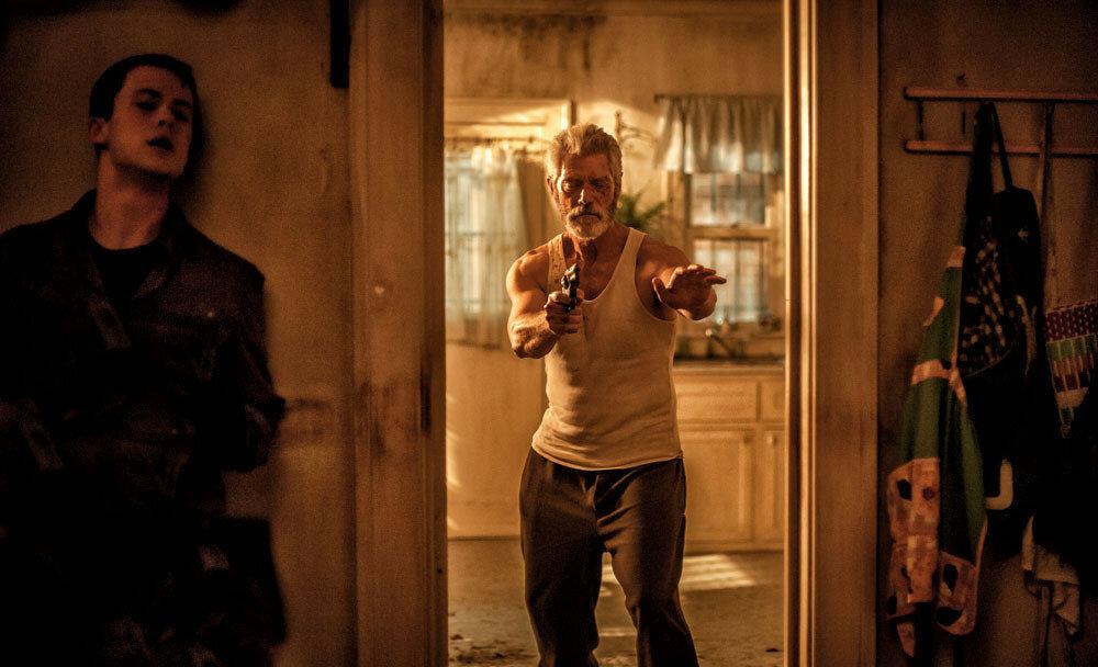 Dylan Minnette and Stephen Lang star in Screen Gems' horror-thriller DON'T BREATHE.